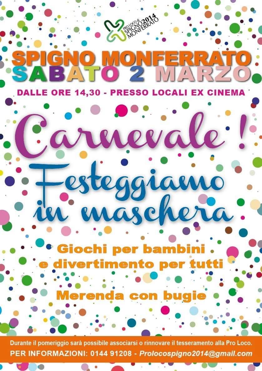 Carnevale 2019 Spigno Monferrato Carnevale in campagna e al mare