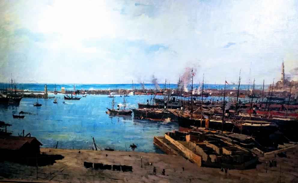 Porto di Genova Enrico Reycend Il mare e la campagna