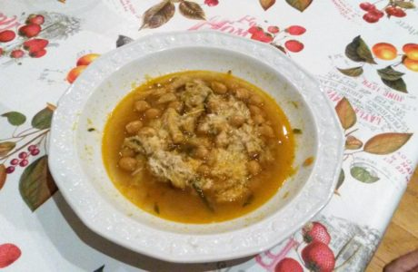 Trippa e ceci 460x300 Chickpeas and Tripe Soup