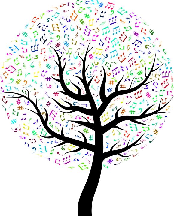 albero di note Sulle note del notturno di Chopin