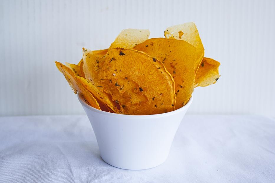 chips di zucca Chips di mele di zucca