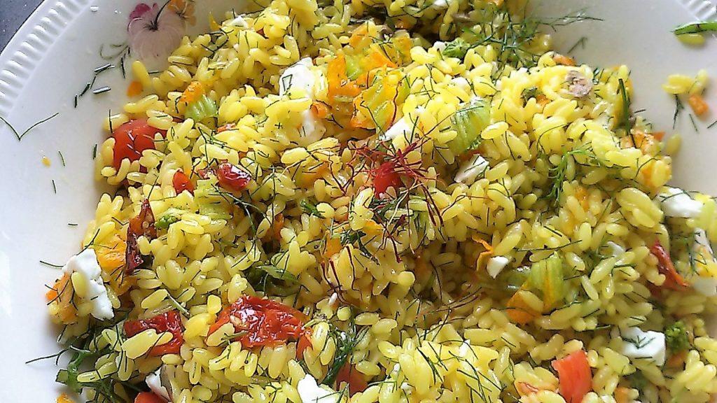 insalata di riso con zafferano 1 1024x576 Una domenica ai fornelli 8230