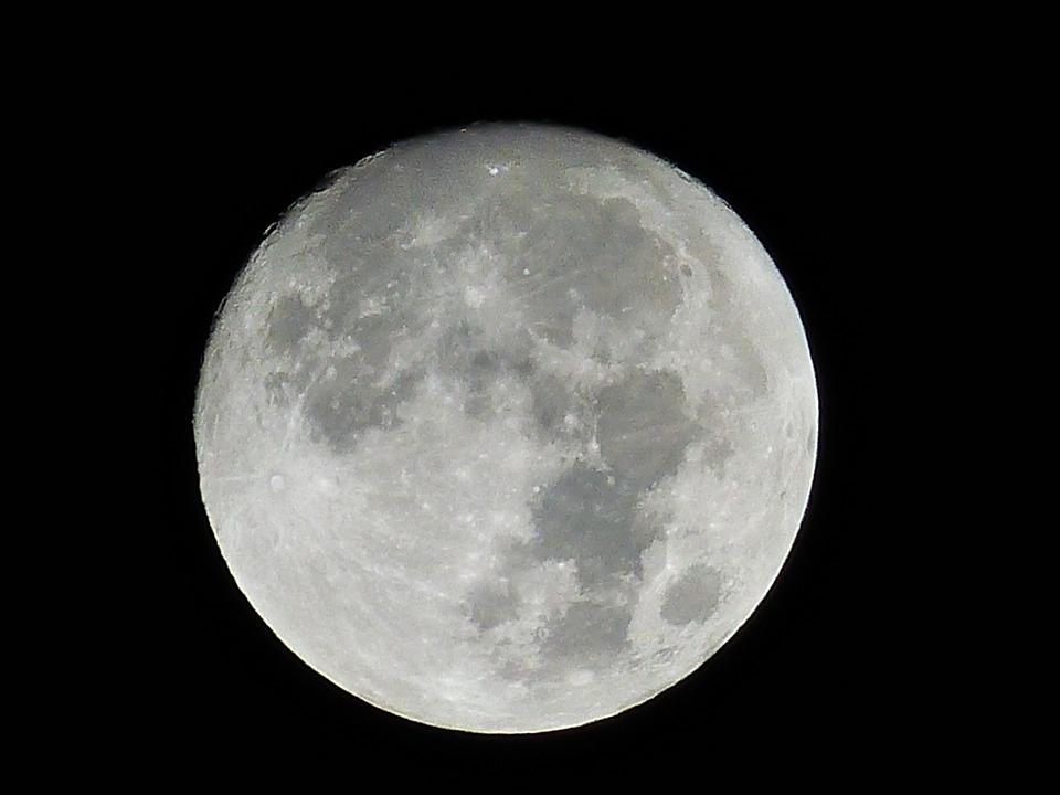 luna notturna Stregata dalla luna