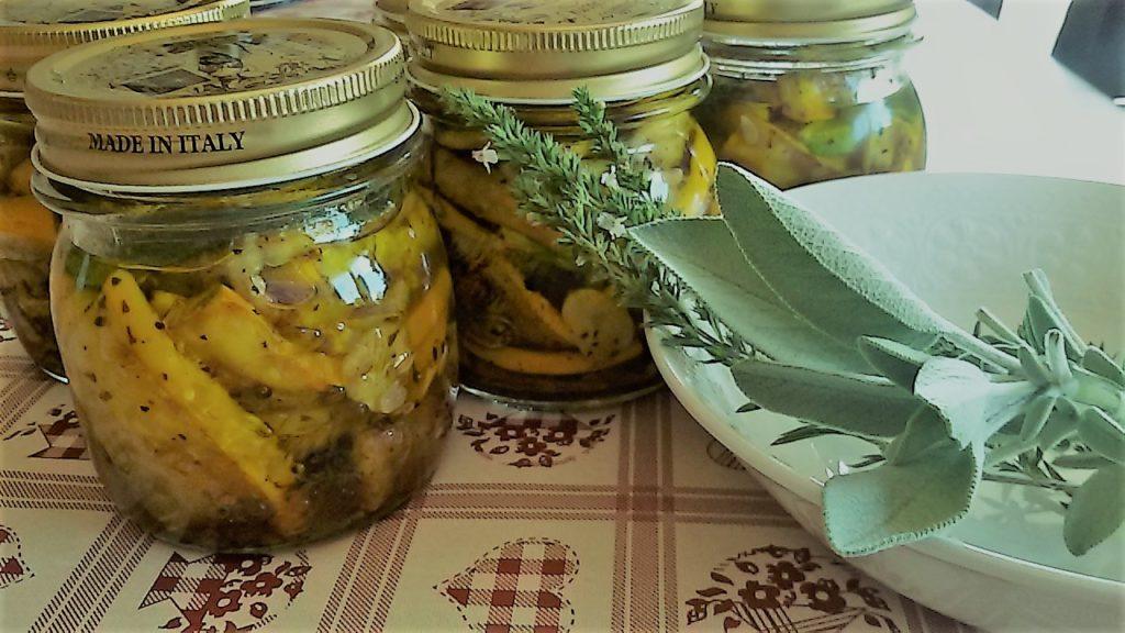 zucchine in vaso 1024x576 Caponata di zucchine ed altre idee